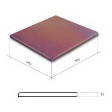 Гладка Кантрі вишня сход. кут. 300x300x11 CERRAD Плитка фасадна