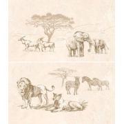Сафарі коричневий панно 031-1 46х40 ІНТЕРКЕРАМА Декор