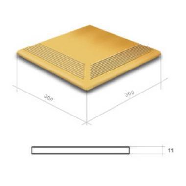 Гладка Гобі сход. кут. 300x300x11 CERRAD Плитка фасадна