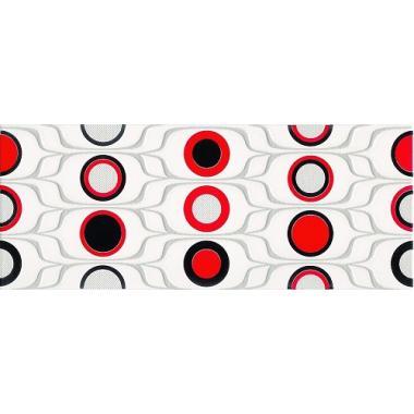 Доменіко червоні кола 20х50 KONSKIE Декор