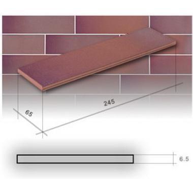 Гладка Кантрі вишня 245х65х6,5 CERRAD Плитка фасадна