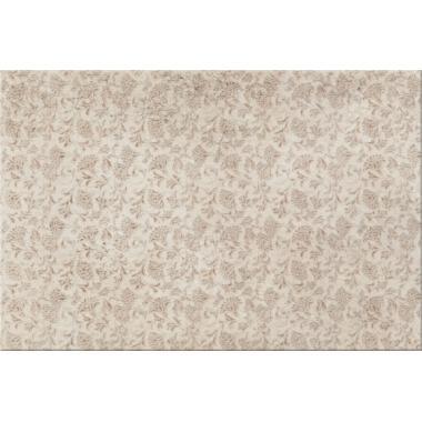 Біно крем маленькі квіти 25х40 CERSANIT Плитка для стіни
